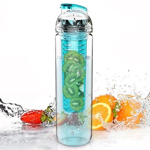800ml Tritan Water Fruit Infuser Bottle (Many Color Option) - BPA Free
