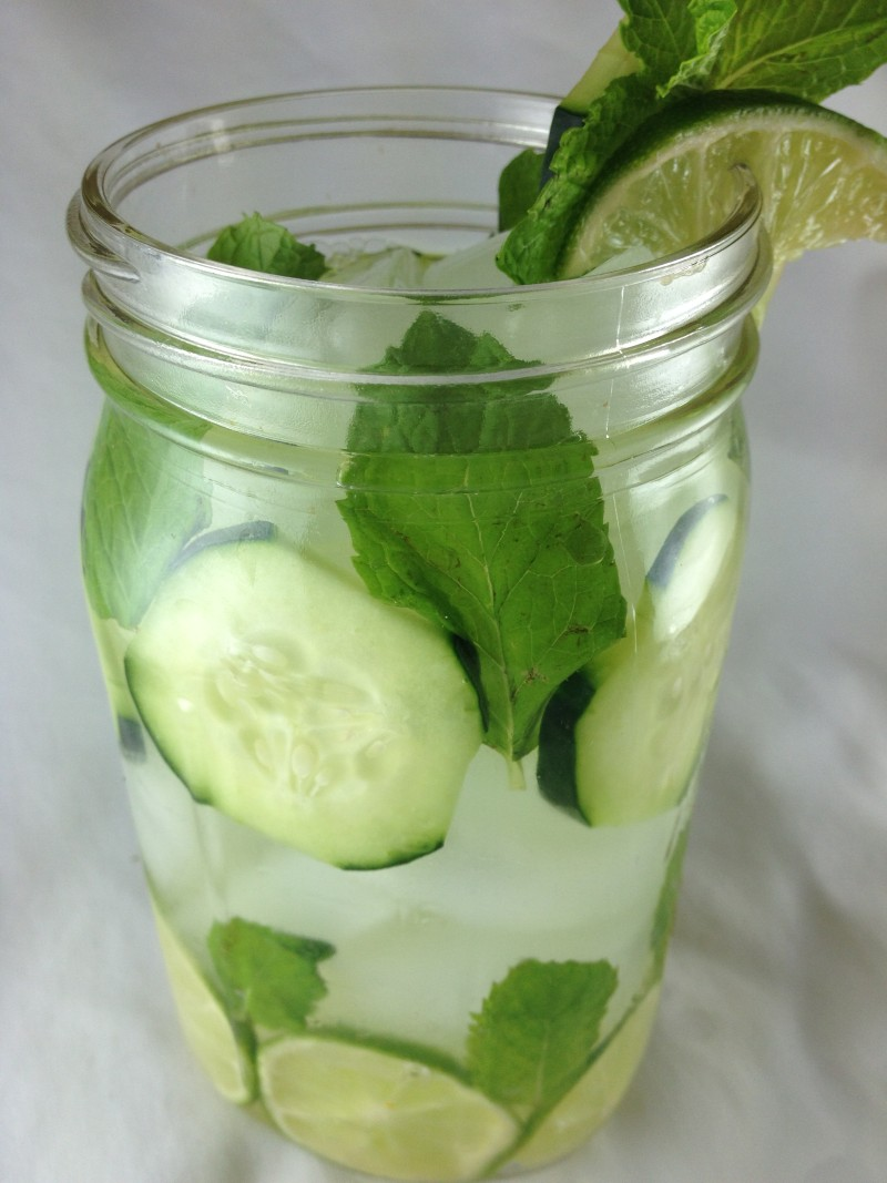 Lime Cucumber Mint Water