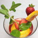 Strawberry, Orange, and Mint Infused Water