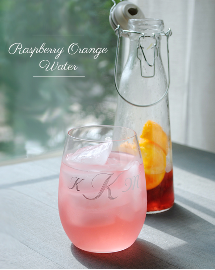 Raspberry Orange Detox Water