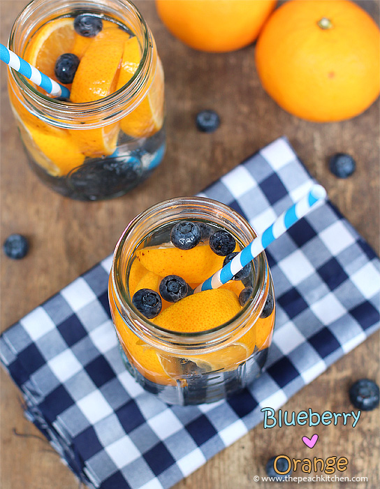 Blueberry and Orange Infused Water