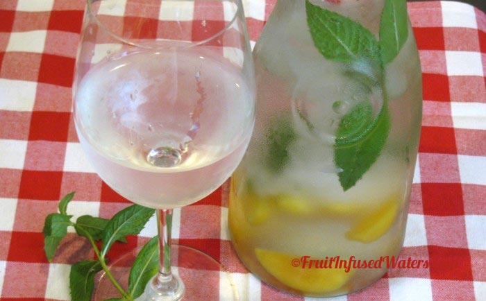 Peach Mint Detox Water