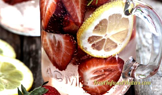 Strawberry Detox Lemon Water